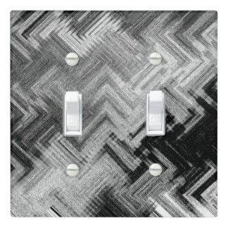 Brushed Steel Double Toggle Light Switch Cover