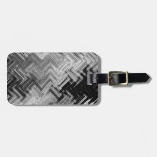 Brushed Steel Luggage Tag with Leather Strap