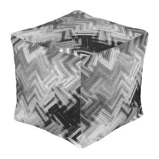 Brushed Steel Outdoor Cubed Pouf