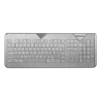 Brushed Steel wireless keyboard