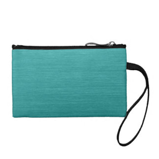 Brushed Teal Metal Look kash001 Coin Purse