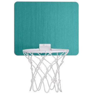 Brushed Teal Metal Look kash001 Mini Basketball Hoop