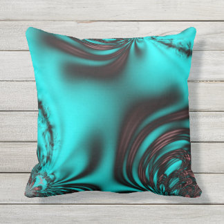 Brushed Teal Outdoor Pillow