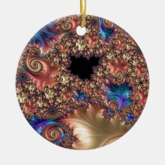 Brushstroke and Response Fractal Ceramic Ornament