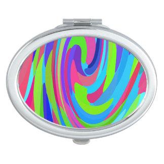 Brushstroke Swirl Compact Mirror