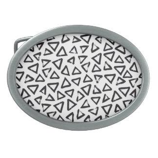 Brushstroke Triangel Pattern, Scandinavian Design Belt Buckle