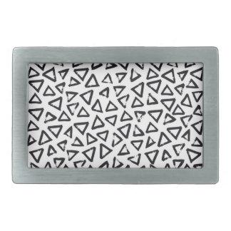 Brushstroke Triangel Pattern, Scandinavian Design Belt Buckles