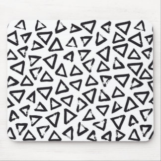 Brushstroke Triangel Pattern, Scandinavian Design Mouse Pad