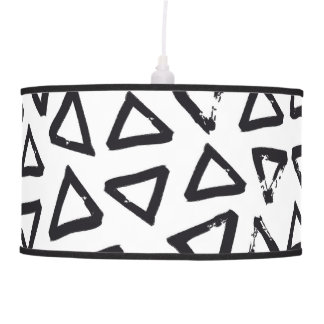 Brushstroke Triangel Pattern, Scandinavian Design Pendant Lamp