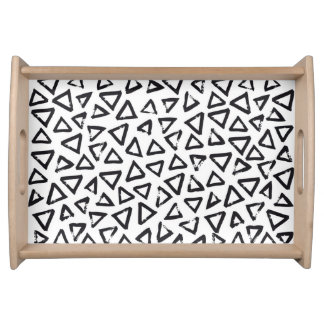 Brushstroke Triangel Pattern, Scandinavian Design Serving Tray