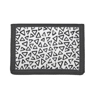 Brushstroke Triangel Pattern, Scandinavian Design Trifold Wallet
