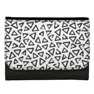 Brushstroke Triangel Pattern, Scandinavian Design Wallet For Women