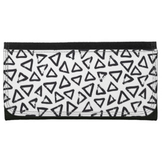 Brushstroke Triangel Pattern, Scandinavian Design Wallets For Women
