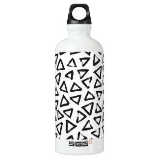 Brushstroke Triangel Pattern, Scandinavian Design Water Bottle