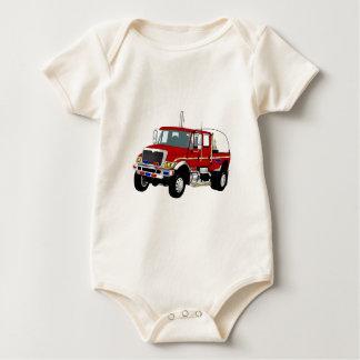 BrushTruckRed Baby Bodysuit