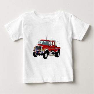 BrushTruckRed Baby T-Shirt