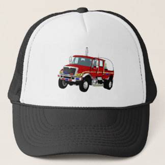 BrushTruckRed Trucker Hat