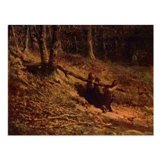 Brushwood collectors by Jean-Francois Millet Postcards