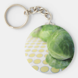 Brussel Sprouts Basic Round Button Keychain
