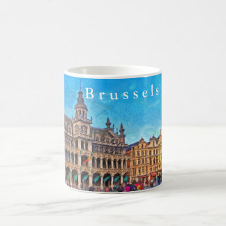 Brussels..Сity Museum at Grand Place. Coffee Mug