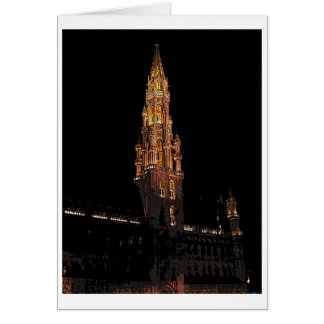 Brussels At Night Card