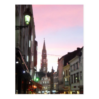 Brussels At Sunset Postcard