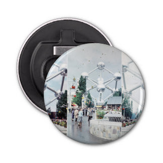 Brussels Atomium Photo Collage Bottle Opener