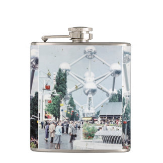 Brussels Atomium Photo Collage Flask