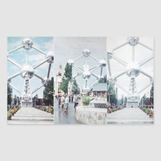 Brussels Atomium Photo Collage Sticker