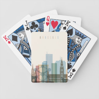 Brussels, Belgium | City Skyline Bicycle Playing Cards
