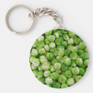 Brussels cabbage keychain