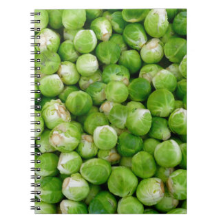 Brussels cabbage spiral notebook