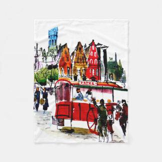 Brussels City Fleece Blanket