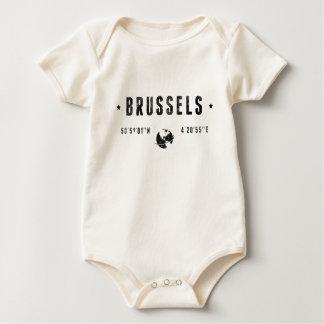 Brussels coordinates baby bodysuit