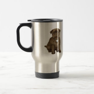 Brussels Griffon #2 (brown) Travel Mug