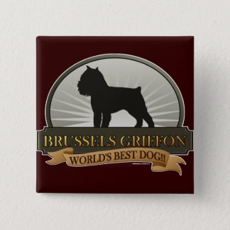 Brussels Griffon 2 Inch Square Button