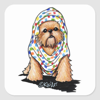 Brussels Griffon Beauty Square Sticker