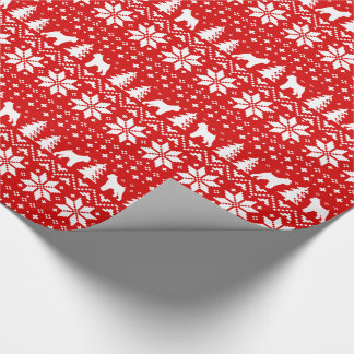 Brussels Griffon Christmas Sweater Pattern Red Wrapping Paper