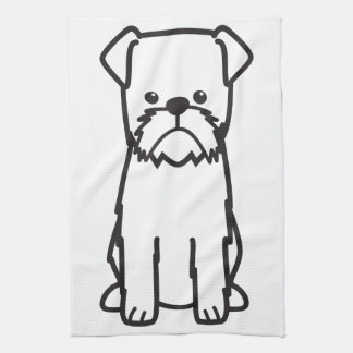 Brussels Griffon Dog Breed Cartoon Hand Towel