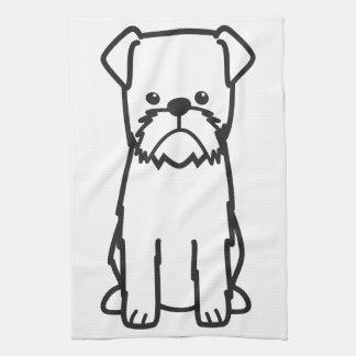 Brussels Griffon Dog Breed Cartoon Kitchen Towel