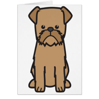 Brussels Griffon Dog Cartoon Card