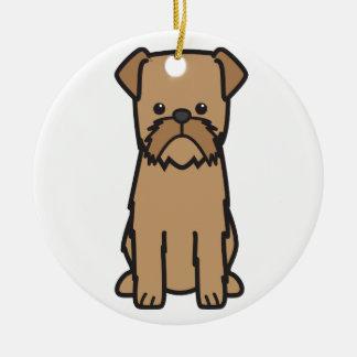 Brussels Griffon Dog Cartoon Ceramic Ornament
