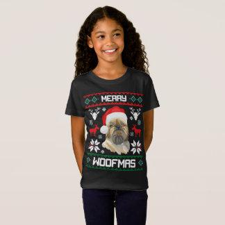 Brussels Griffon Dog Merry Woofmas Christmas Shirt