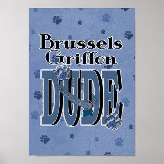 Brussels Griffon DUDE Print