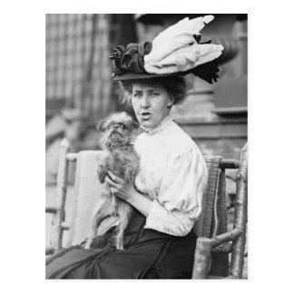 Brussels Griffon, early 1900s Postcard