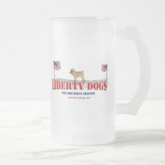 Brussels Griffon Frosted Glass Beer Mug