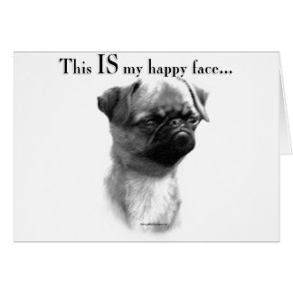 Brussels Griffon Happy Face Cards