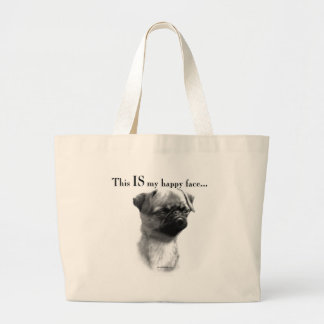 Brussels Griffon Happy Face Large Tote Bag