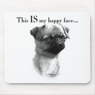 Brussels Griffon Happy Face Mouse Pad