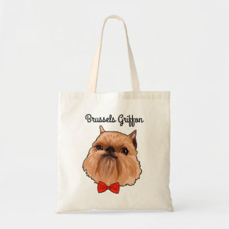 Brussels Griffon Illustrated Tote Bag